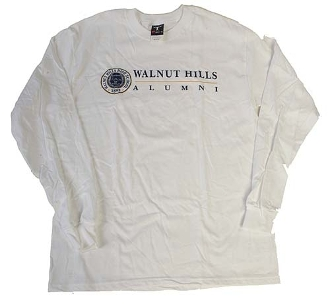 Alumni Long Sleeve Tee - White and Grey available