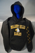 """Wally"" pullover hoodie - Navy Blue and Heather Gray"