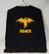"Navy Blue Long Sleeve ""SOAR"" Shirt"