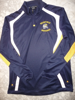 1/4 Zip Performance Blue/Gold Pullover