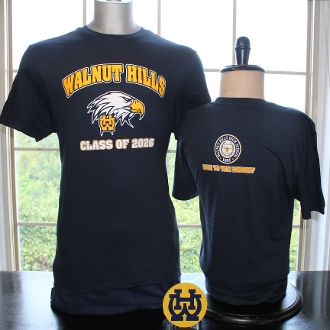 "Class of 2026 T-Shirt and ""WH"" Car Magnet Bundle"