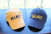 Gold and Navy Blue Unstructured Hat