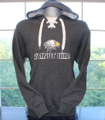 Heather Gray Lace Up Hoodie