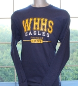Long Sleeve Navy WHHS (founded 1895) T-Shirt