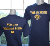 "Navy ""I'm a Nut"" T-Shirt with front and back imprints"